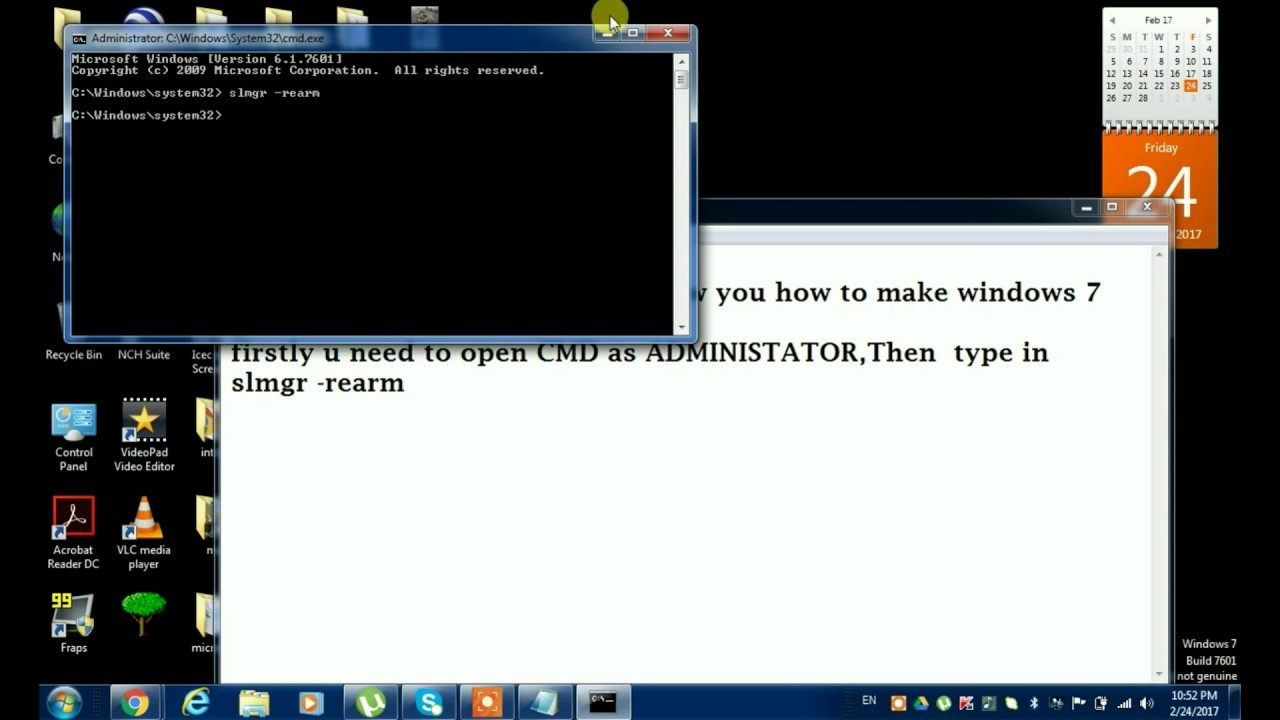 how to make windows genuine windows 7