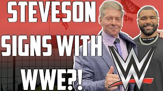 WWE SIGNS GABLE STEVESON Sasha Banks BACKSTAGE at SmackDown Drew McIntyre US TITLE OPPORTUNITY