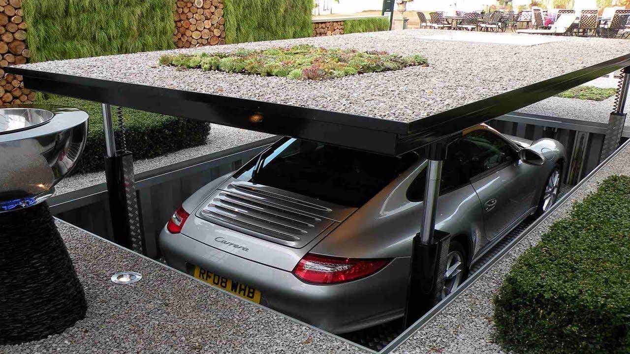 اختراع مدهش موقف السيارات يختفى تحت الارض ويحمي سيارتك من السرقة, لن تصدق ماستراه