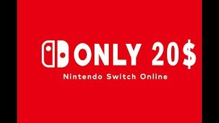 ONLY 20$ - Nintendo Switch Online