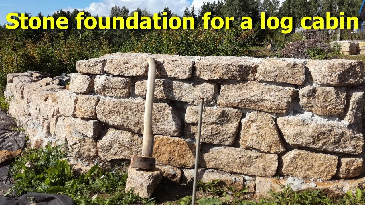 Download Stone foundation for a log cabin
