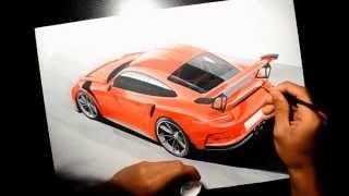 Porsche 911 (991) GT3 RS Drawing