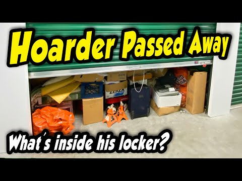 HE HOARDED TONS OF STUFF! After he died, his storage locker sold at auction. What's inside?