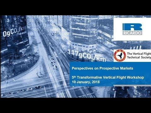 Transformative VTOL Workshop, Session 15: Perspectives on Prospective Markets