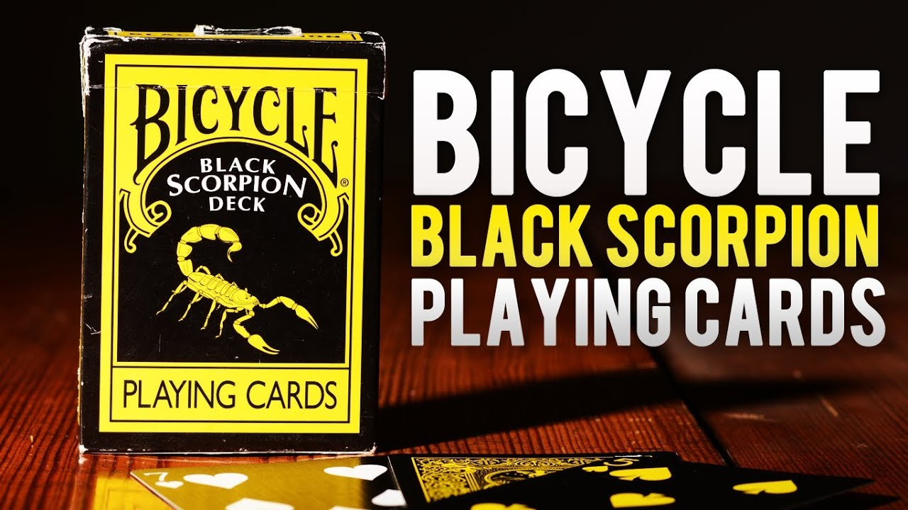 Deck Review - Bicycle Black Scorpion Deck of Playing cards ...