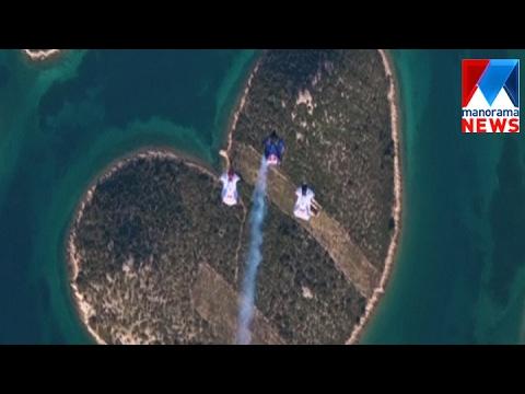 Amazing Wingsuit Skydive Over Croatia's 'Lover's Island' | Manorama News