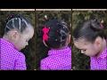 Peinado para niñas con ligas la maya|peinados faciles y rapidos para niñas