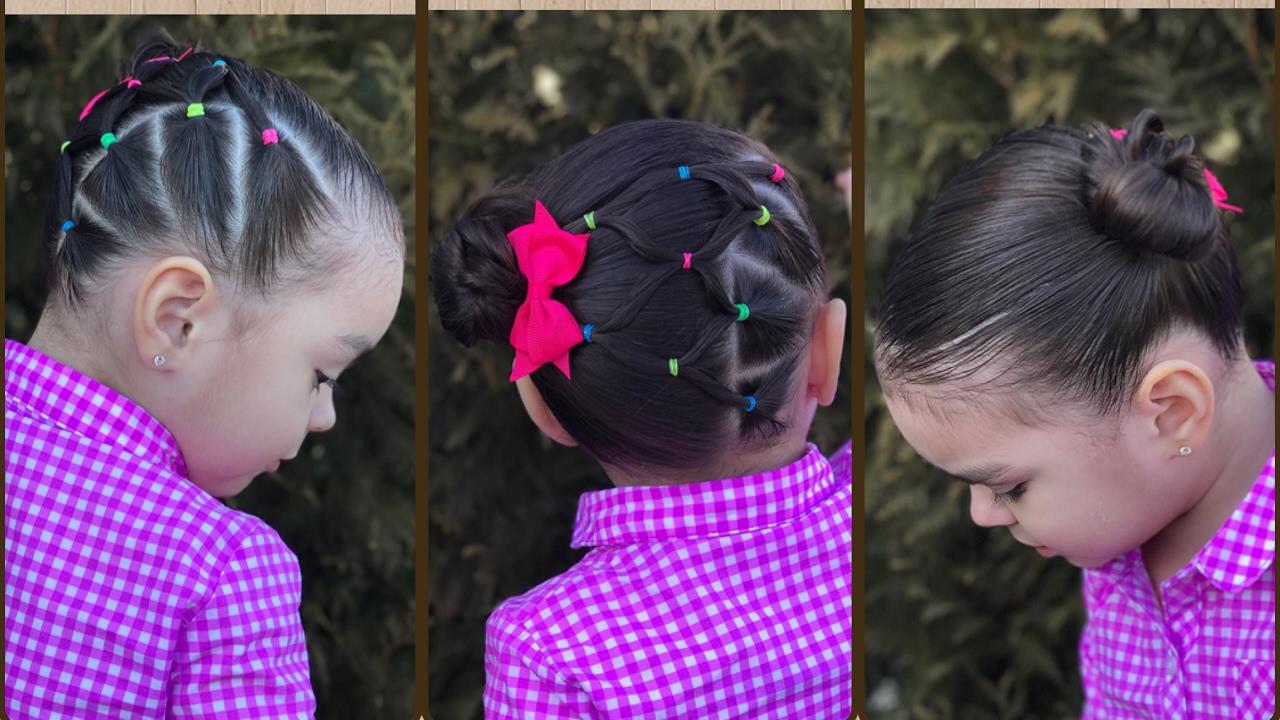 peinado para nias con ligas la faciles y rapidos para nias youtube