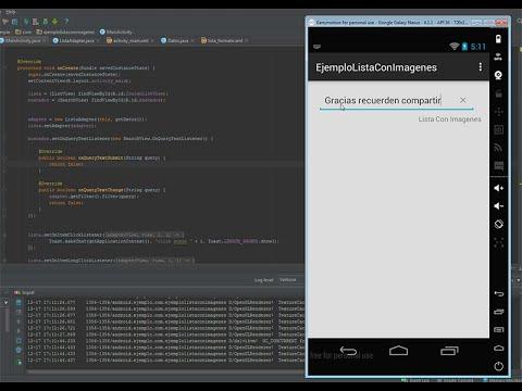 Lista con imágenes Android nativo  y Filtro (ListView)