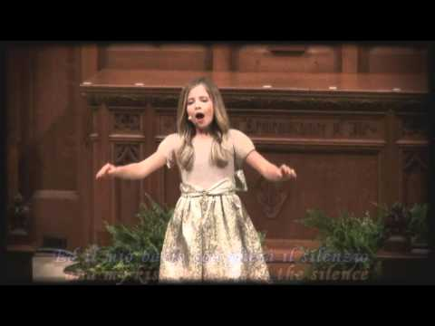 Nessun Dorma by Jackie Evancho with lyrics and English translation