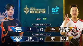 TRỰC TIẾP: SAIGON PHANTOM vs FAPTV - Viettel 5G ĐTDV mùa Xuân 2020