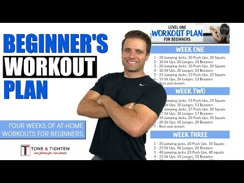 Free 4 Week Beginner S Workout Plan Total Body Workout Plan To Lose Weight And Tone Muscle Youtube