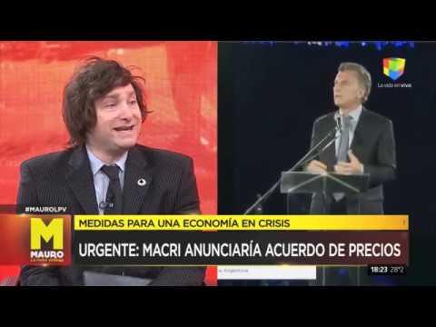 """Javier Milei: """"Argentina tiene riesgo de hiperinflación"""" - Mauro, la Pura Verdad (14/04/2019)"""