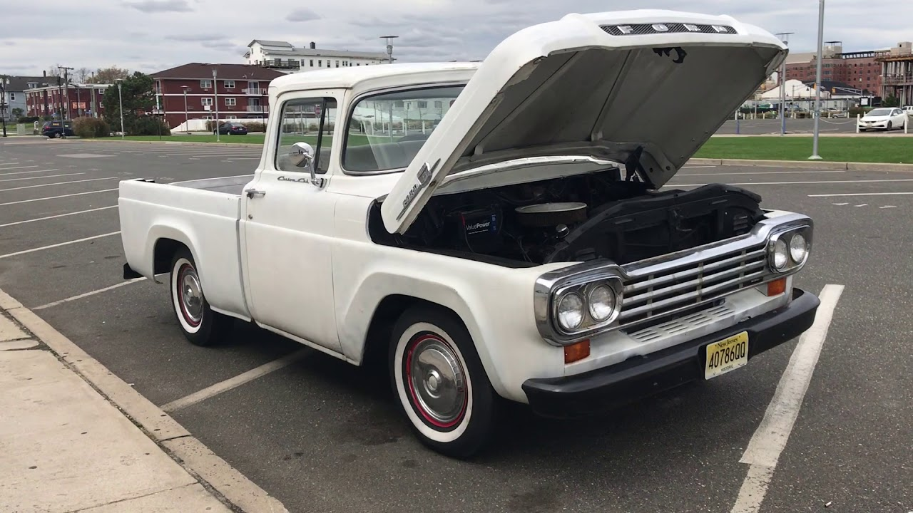 1959 Ford F100 Engine Running And Walk Around Youtube