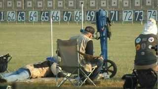 Gunnery Sgt R. Lee Ermey scoring for his shooting pal Dennis DeMille