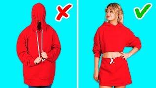 حيل للملابس لن تكلف فلسا واحدا! || مشاريع حرفية للملابس بواسطة