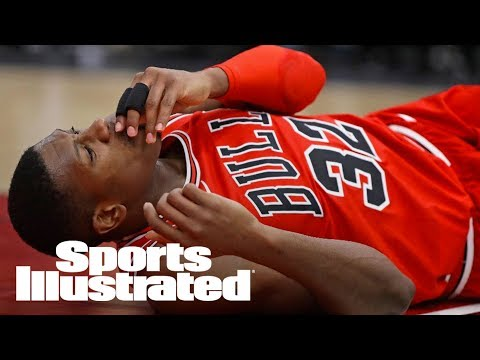 Chicago Bulls' Kris Dunn Suffers Facial Injury Following Dunk | SI Wire | Sports Illustrated