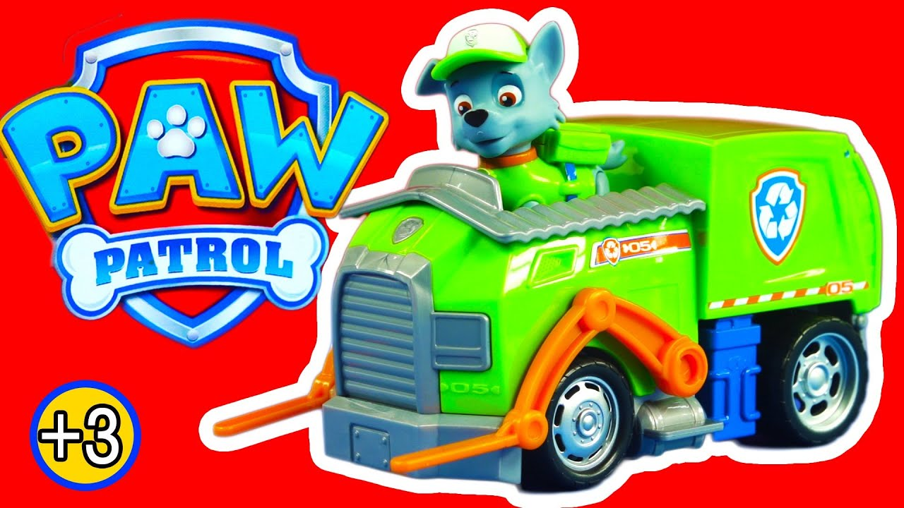 paw patrol la pat 39 patrouille rocky camion de recyclage figurines jouets youtube. Black Bedroom Furniture Sets. Home Design Ideas