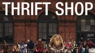 Gambar cover MACKLEMORE & RYAN LEWIS - THRIFT SHOP FEAT. WANZ (LYRICS) (FREE mp3 downloads)