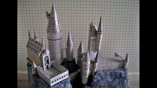 Paper Model of the Hogwarts School/Castle from The Wizarding World of Harry Potter