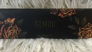 Melt Cosmetics Gemini Palette live