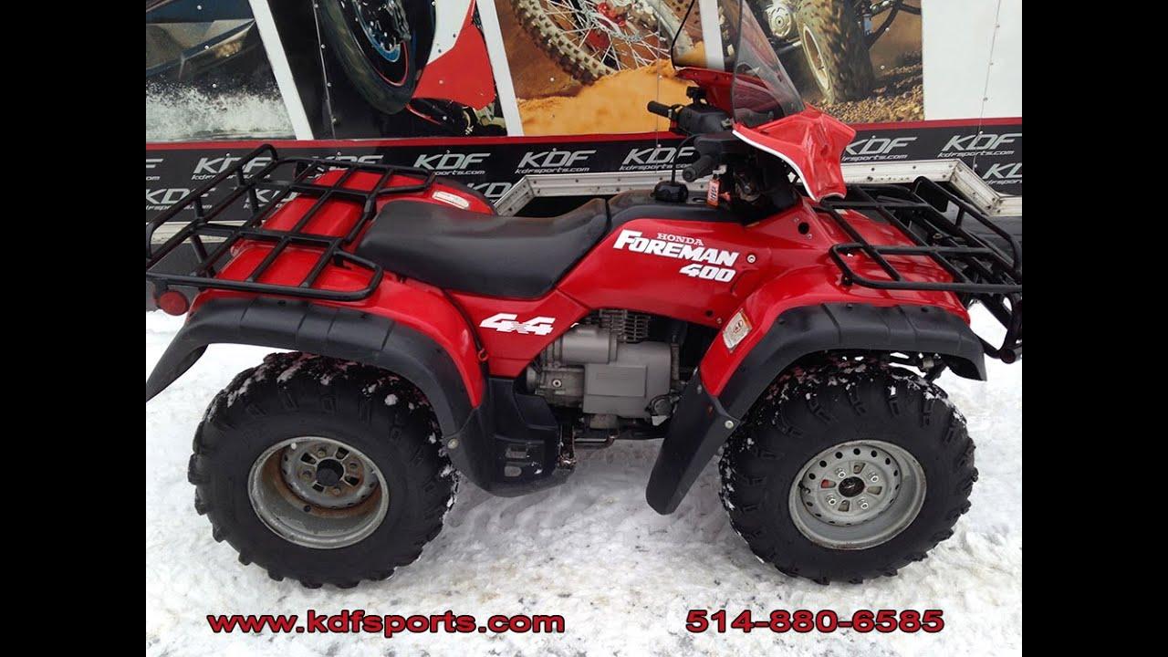 Honda Foreman 400 >> Honda Foreman 400 1995 Trx400 Youtube