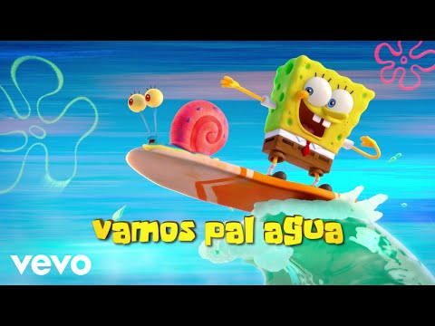 "Tainy, J Balvin - Agua (Music From ""Sponge On The Run"" Movie/Official Lyrics)"