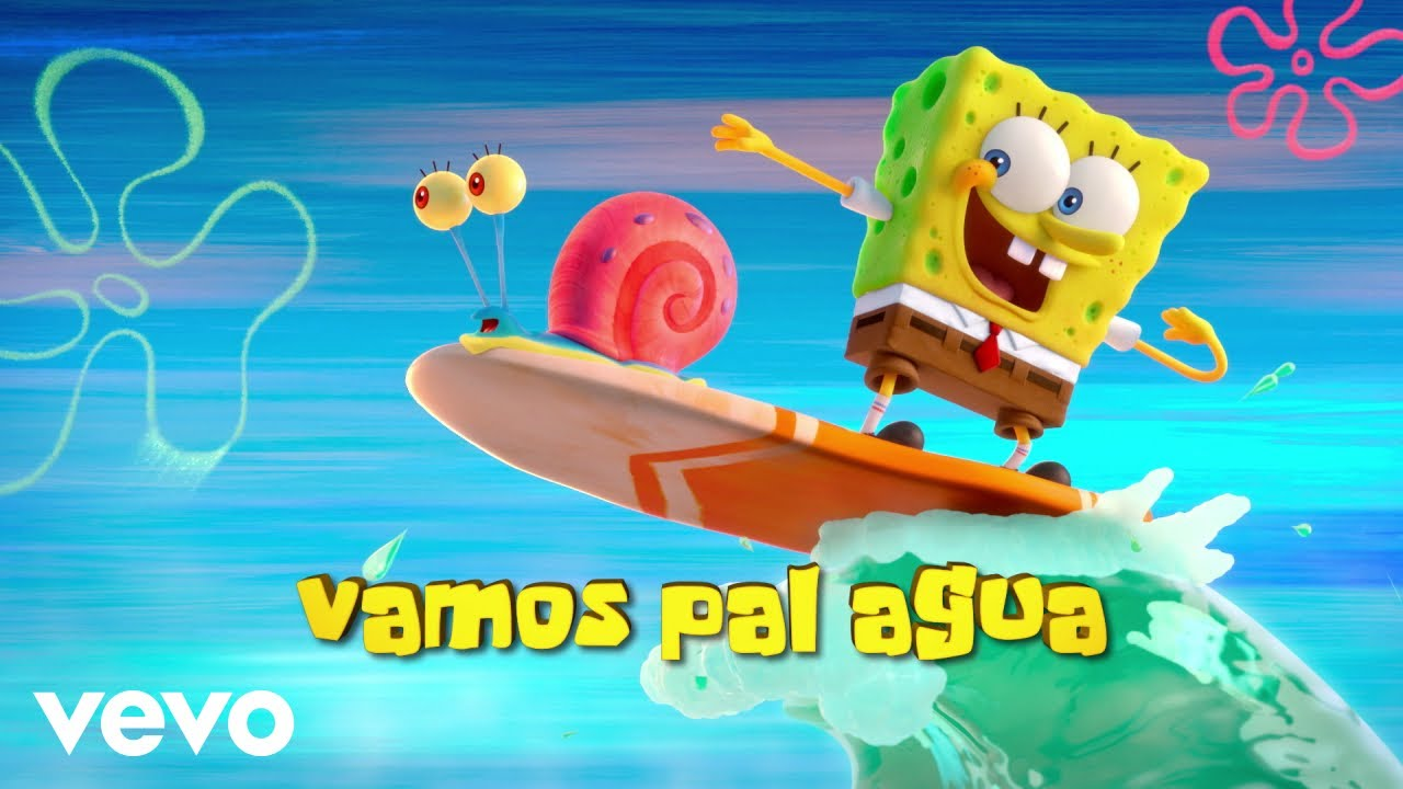 Tainy J Balvin Agua Music From Sponge On The Run Movie Lyric Video Youtube