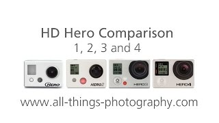 Go Pro HD Hero Comparison 1, 2, 3 and 4 Sound and Video