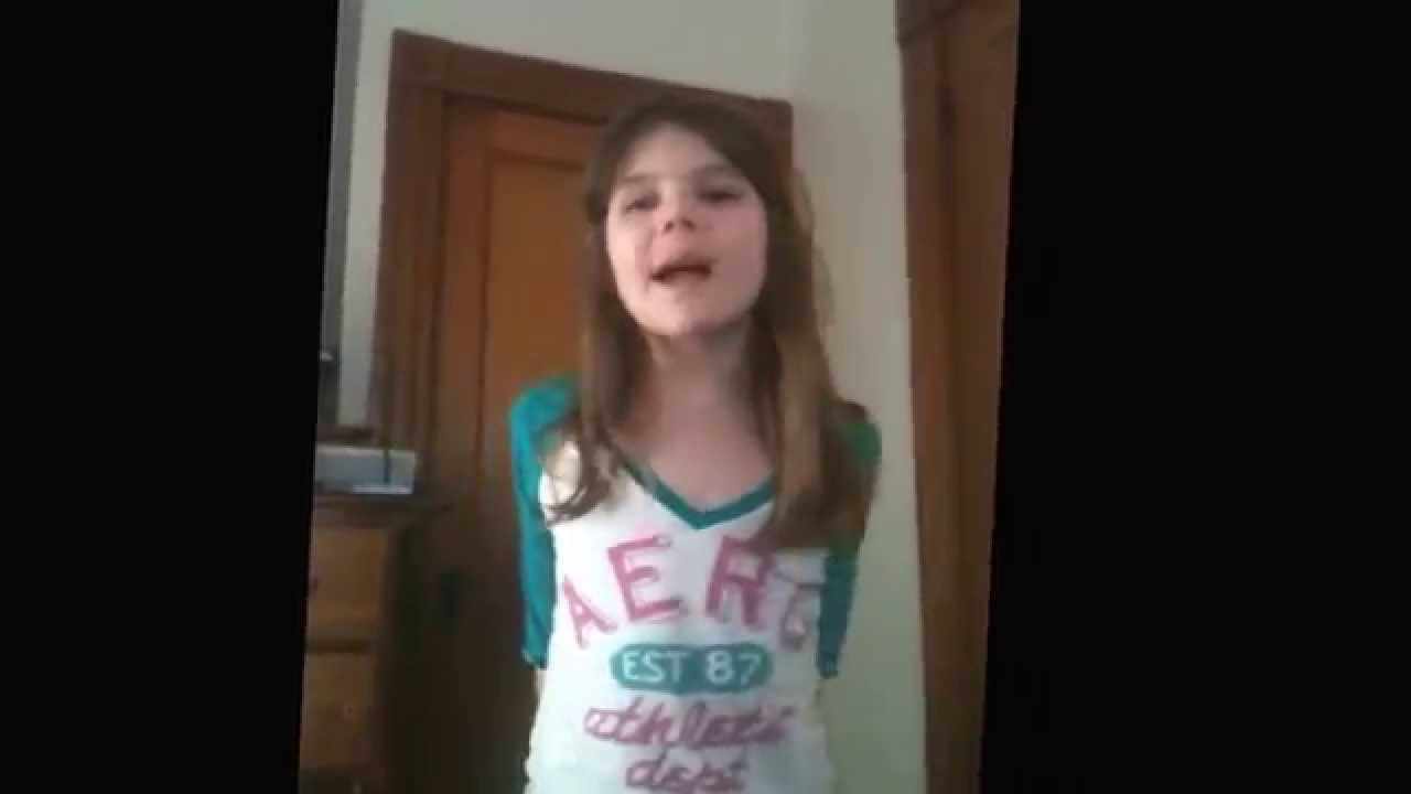 Me (9 years old) singing Shower by Becky G - Cover.