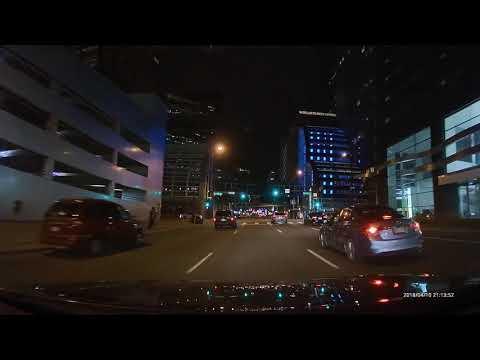 Downtown Denver Colorado Relaxing Night Drive (4K HD)