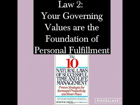 Governing Values & Personal Fulfillment: 10 Natural Laws Series: Law 2