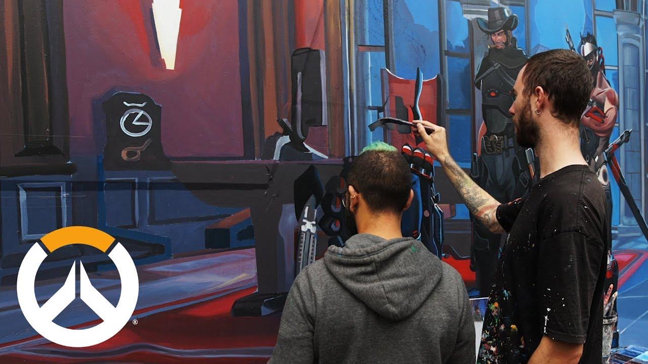 Overwatch Mural Timelapse | Melbourne, Australia