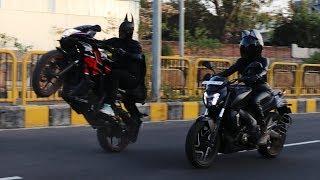 Batman Stunning Bike Stunts With Cat Women