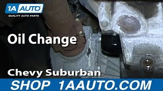 How To Do An Oil Change 2000-06 5.3L Chevy Suburban