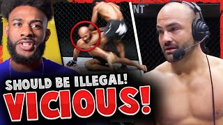 Reactions to Demetrious Johnson getting KO'd via KNEE while DOWNED, Eddie Alvarez gets DISQUALIFIED!
