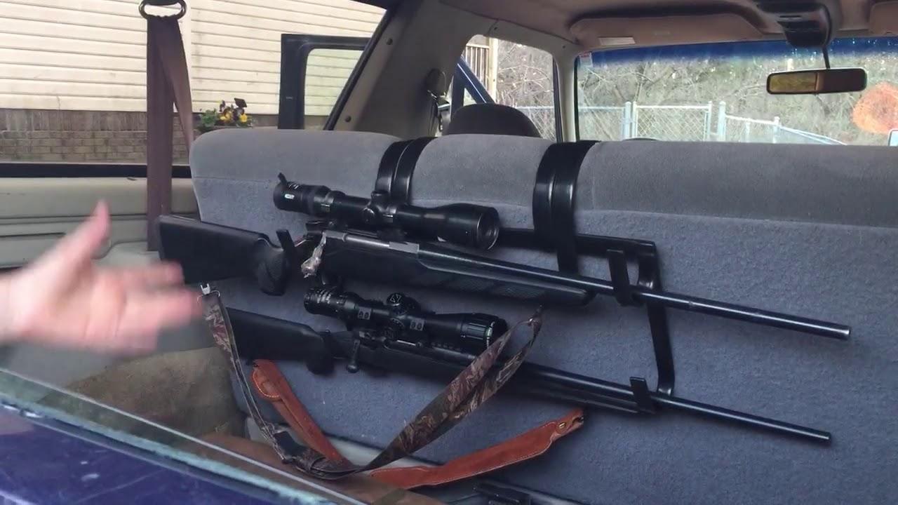 truck suv bench seat gun rack youtube