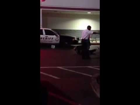 Police pull down GUN men  by WinCo Antelope California USA