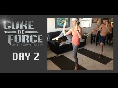 Day 2 of Core de Force - Dynamic Strength!