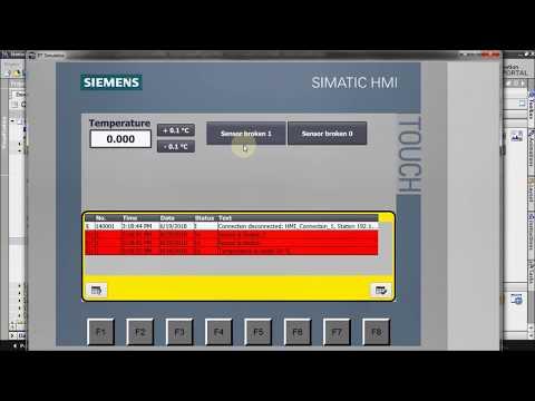 HMI programming tutorial TIA Portal - 5. Alarms : Alarm view (Part 6/7) thumbnail