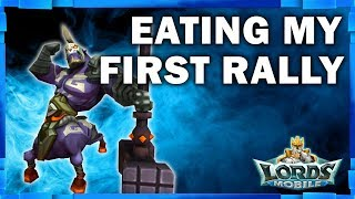 LORDS MOBILE - EATING MY FIRST T4 RALLY - MISTER BP GAMING