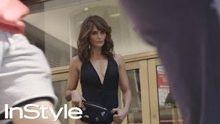 Supermodel Helena Christensen Traverses NYC in a Bathing Suit | InStyle