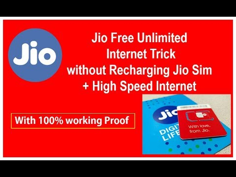Jio Free Unlimited Internet Trick with High speed Internet