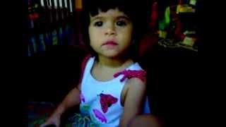 One Year Old Thai-American Baby Girl Sings Karaoke