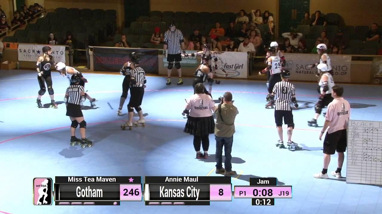 Roller skates kansas city - Wftda Roller Derby 2014 Division 1 Playoffs Sacramento Gotham Girls Roller Derby Vs Kansas City