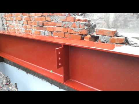 Cement rendering and installation of building structure H steel beam ( Part 3 )