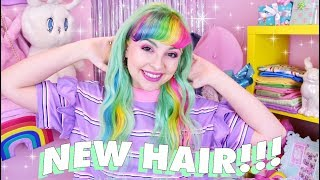 💕🌈MINTY RAINBOW HAIR TRANSFORMATION 🌈💕