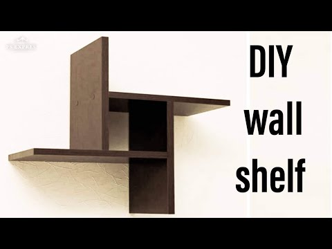 4$ DIY wall shelf | small bookshelf design from recycled wood