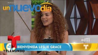 """leslie grace nos presenta su nueva canción """"duro y suave"""" un nuevo día telemundo"""