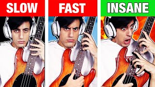 Slap Bass: SLOW vs FAST vs INSANE